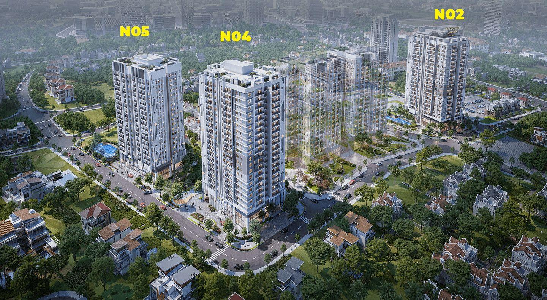 Tòa N02, N04, N05 dự án Nhà ở cao tầng để bán